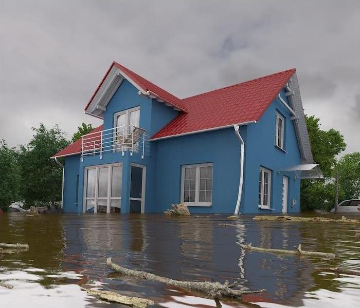 This is a home that is in the middle of a very bad flood.